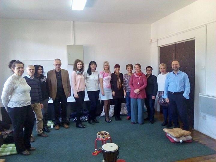 Gruppenfoto mit den Lehreren.