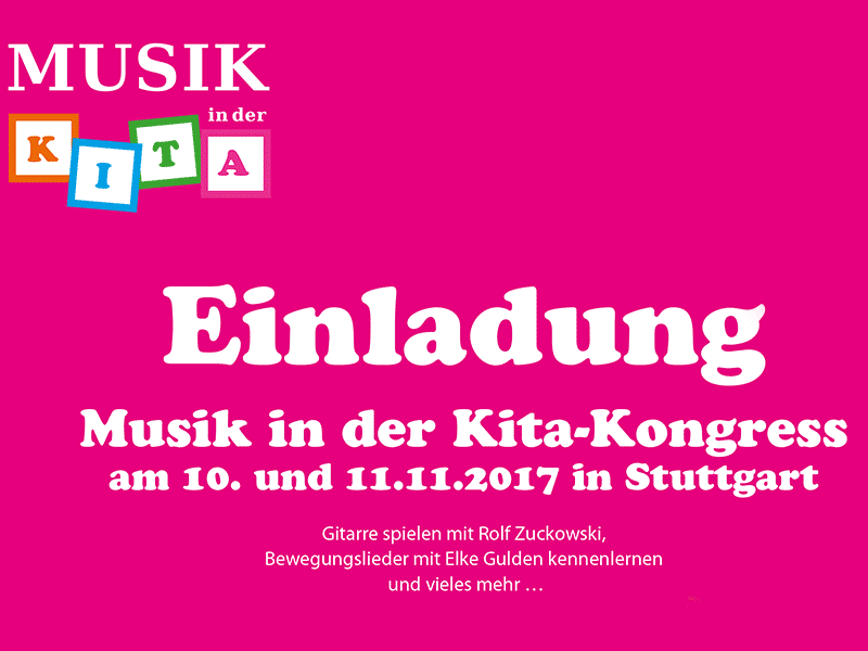 """Am 10. und 11. November fand in Fellbach bei Stuttgart der vom Lugert-Verlag veranstaltete Kongress """"Musik in der Kita"""" statt."""